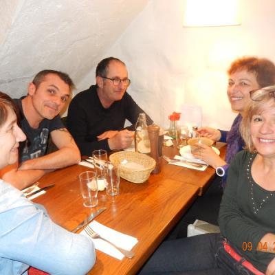 """la pasta party avec la """"bande à Lolo"""": Corinne, Thierry..."""