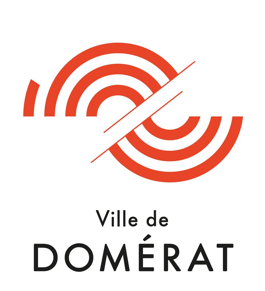 Logo ville de domerat couleur 1